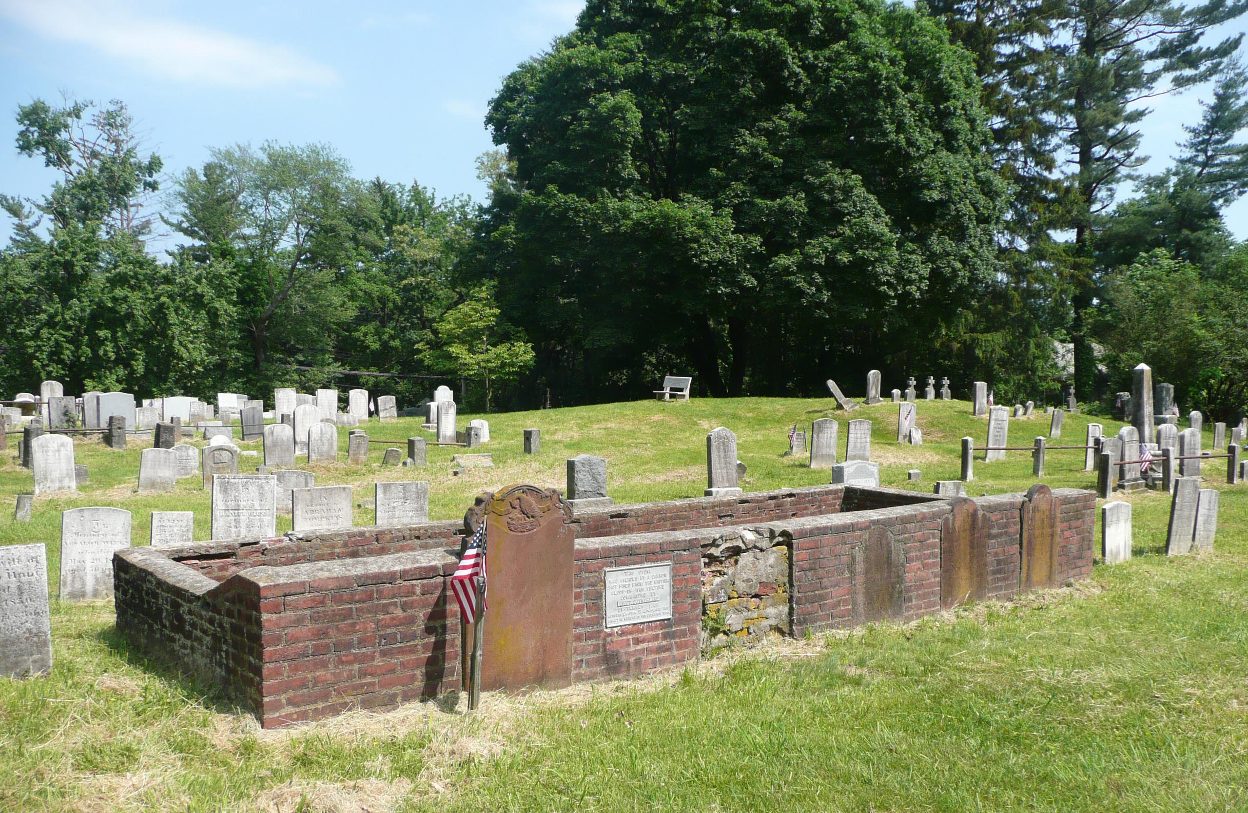 The Ladew family plot in Sparta Cemetery.
