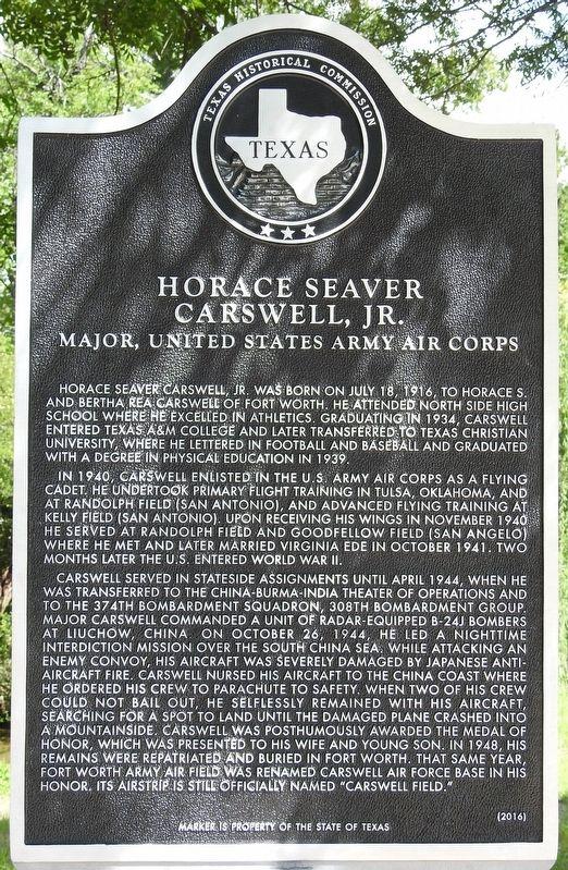 Horace Seaver Carswell Jr. Historical Marker Text: https://www.hmdb.org/Marker.asp?Marker=106247