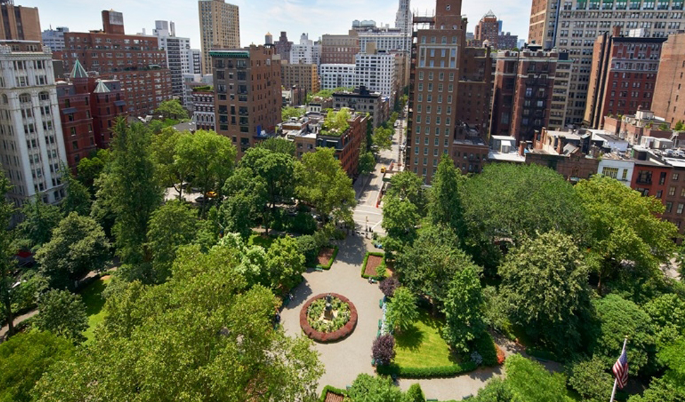Aerial view of Gramercy Park