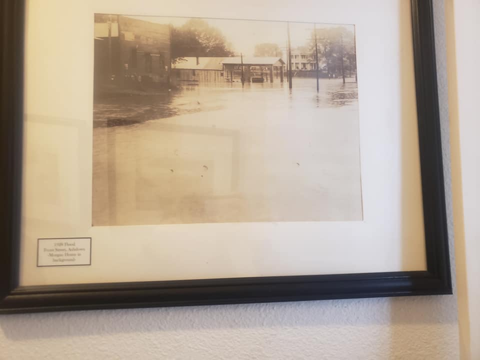 1928 Flood. Front Street, Ashdown-Morgan Home in the background.