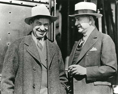 Will Rogers and Amon G. Carter, February 16, 1930. Fort Worth Star-Telegram Archive, University of Texas at Arlington. Courtesy of the Amon Carter Museum of American Art Archives.