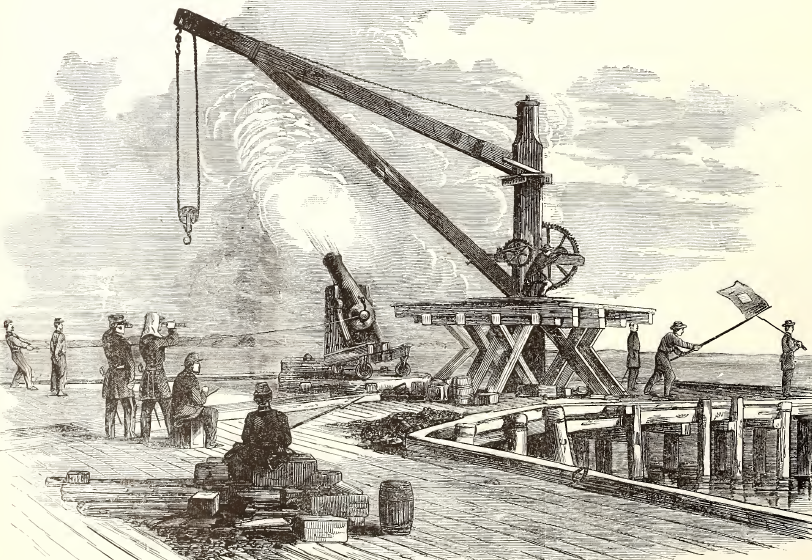 Another contemporary depiction of the Sawyer gun in action.