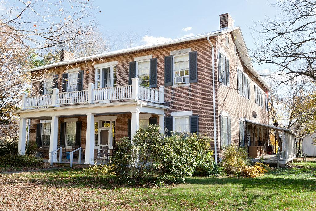 The farmhouse at Fort Hill Farm