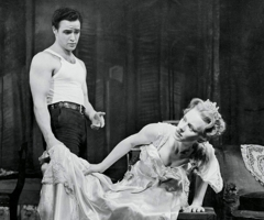 Marlon Brando and Jessica Tandy in A Streetcar Named Desire