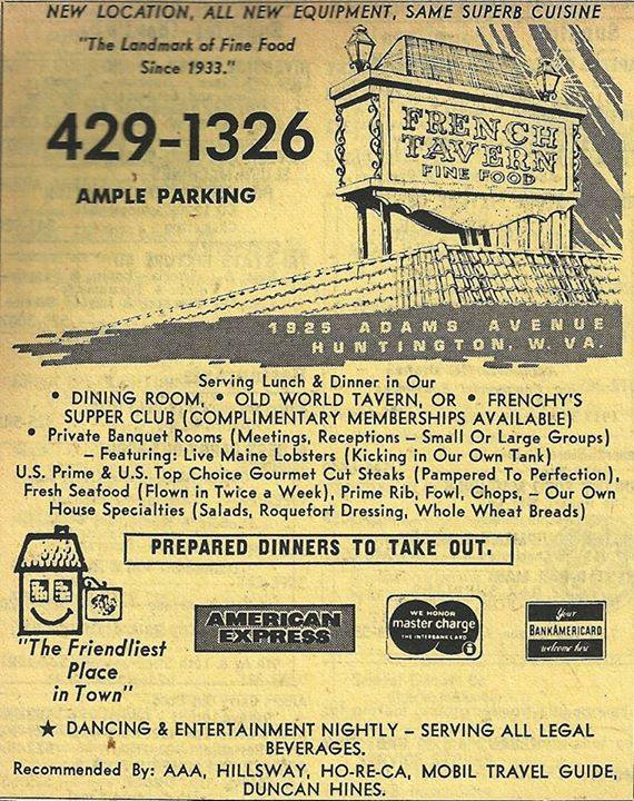 Ad for the restaurant's new location, 1974