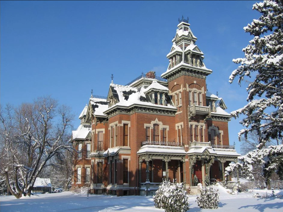 The Vaile Mansion was built in 1881 and is regarded as one of the best examples of Second Empire architecture in the country.