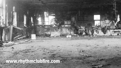 Aftermath of the Rhythm Night Club inside