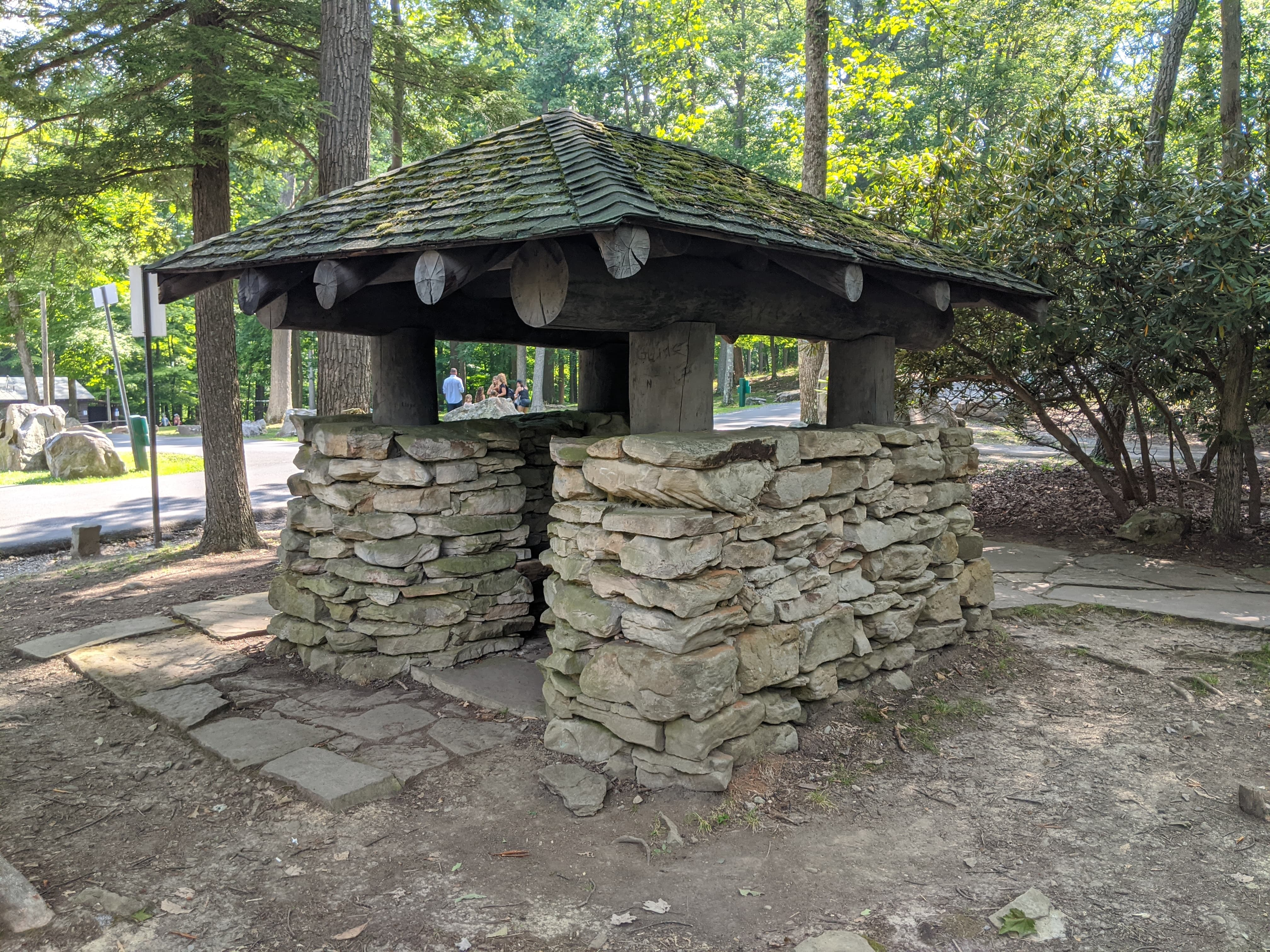 Rear of the information booth