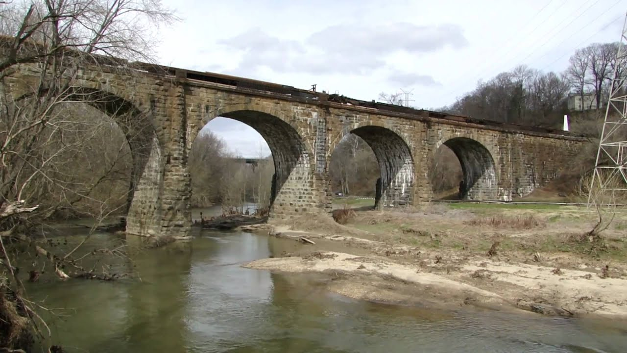 The Thomas Viaduct and the line it serviced ushered in the railroad age when it was completed in 1835.