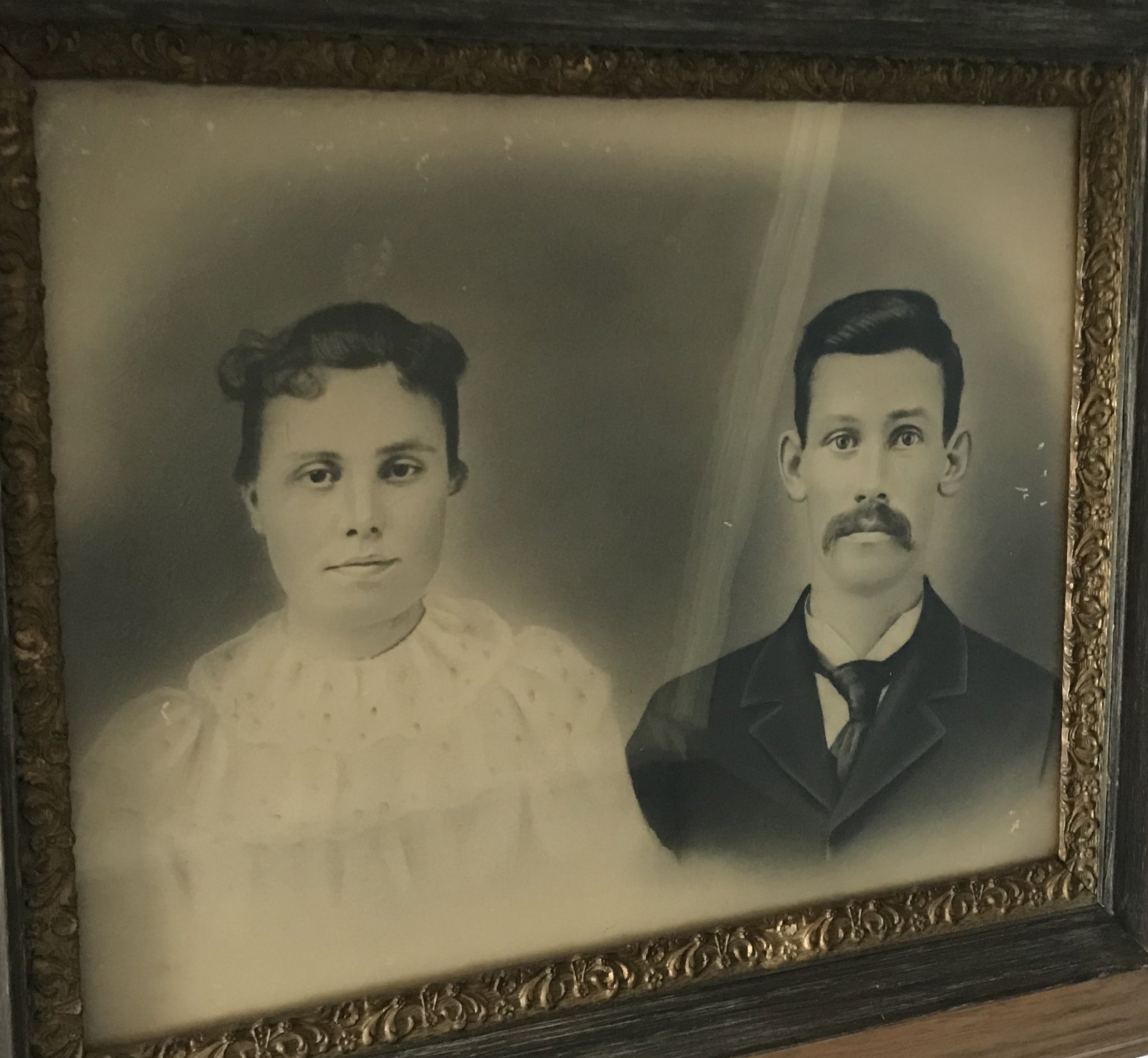 Pictured above is two members of the Kincaid family. Their names are James Daniel Kincaid and Fannie Kincaid. They spent their entire lives on the Kincaid farm.