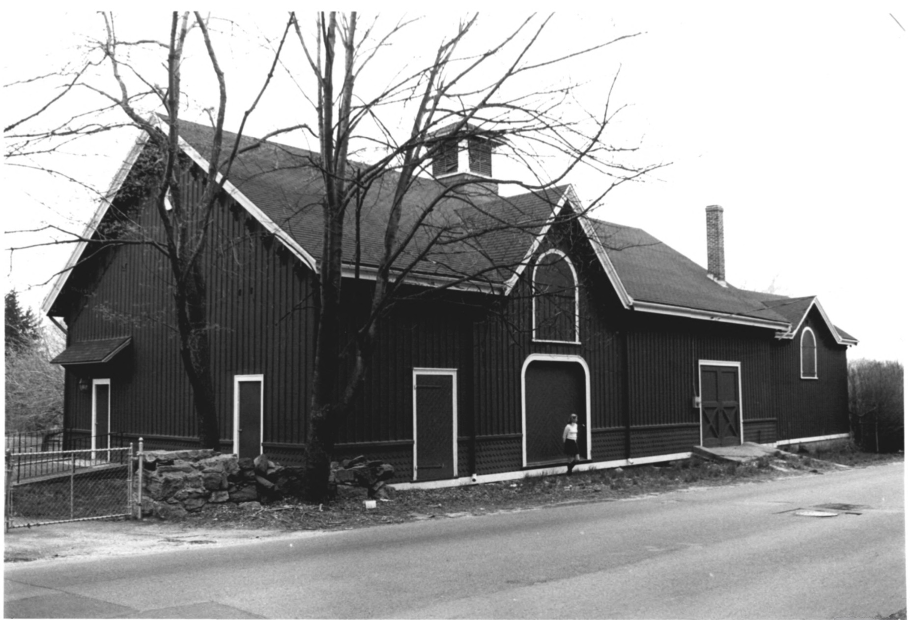 North-Facing View of the CJ Starr Barn in 1979 by Steven H. Hirschberg as Recorded on the National Park Service National Register of Historic Places
