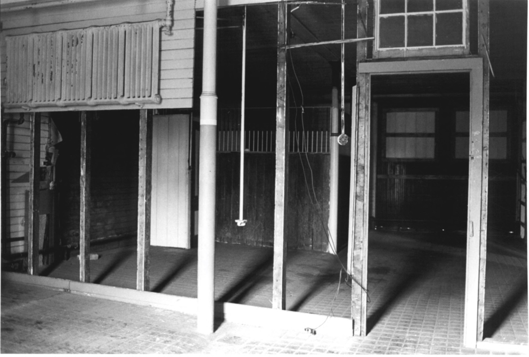 The Horse Stalls within the CJ Starr Barn in 1979 by Steven H. Hirschberg as Recorded on the National Park Service National Register of Historic Places