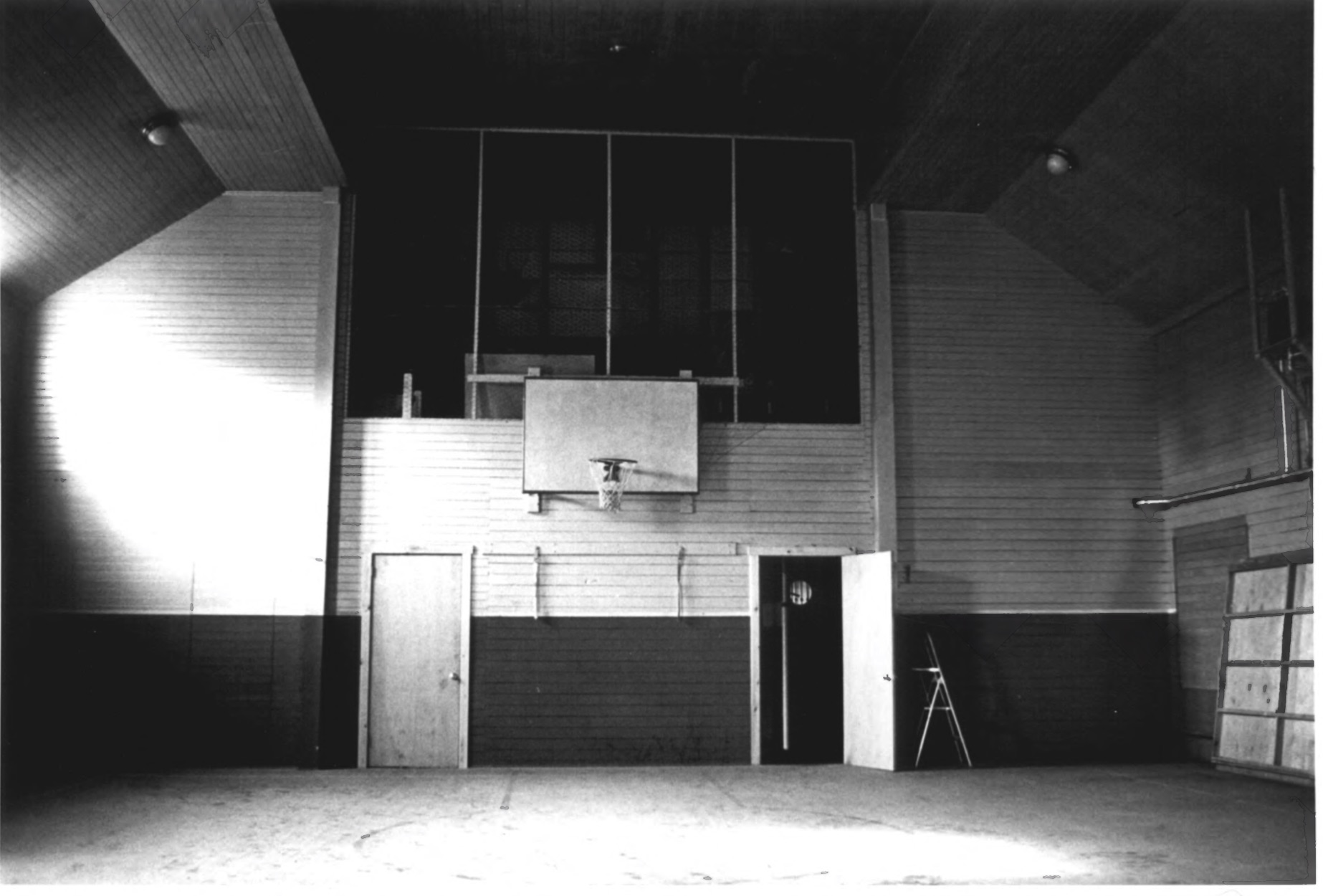 Western Interior with Basketball Hoop, CJ Starr Barn in 1979 by Steven H. Hirschberg as Recorded on the National Park Service National Register of Historic Places
