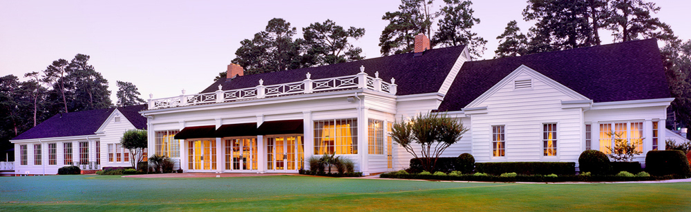 Texarkana Country Club Clubhouse facing the greens.