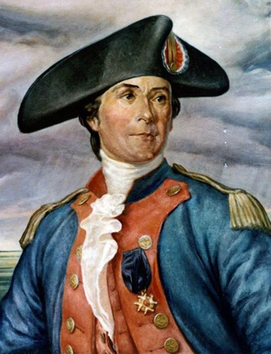 "The ""Father of the American Navy,"" John Paul Jones."