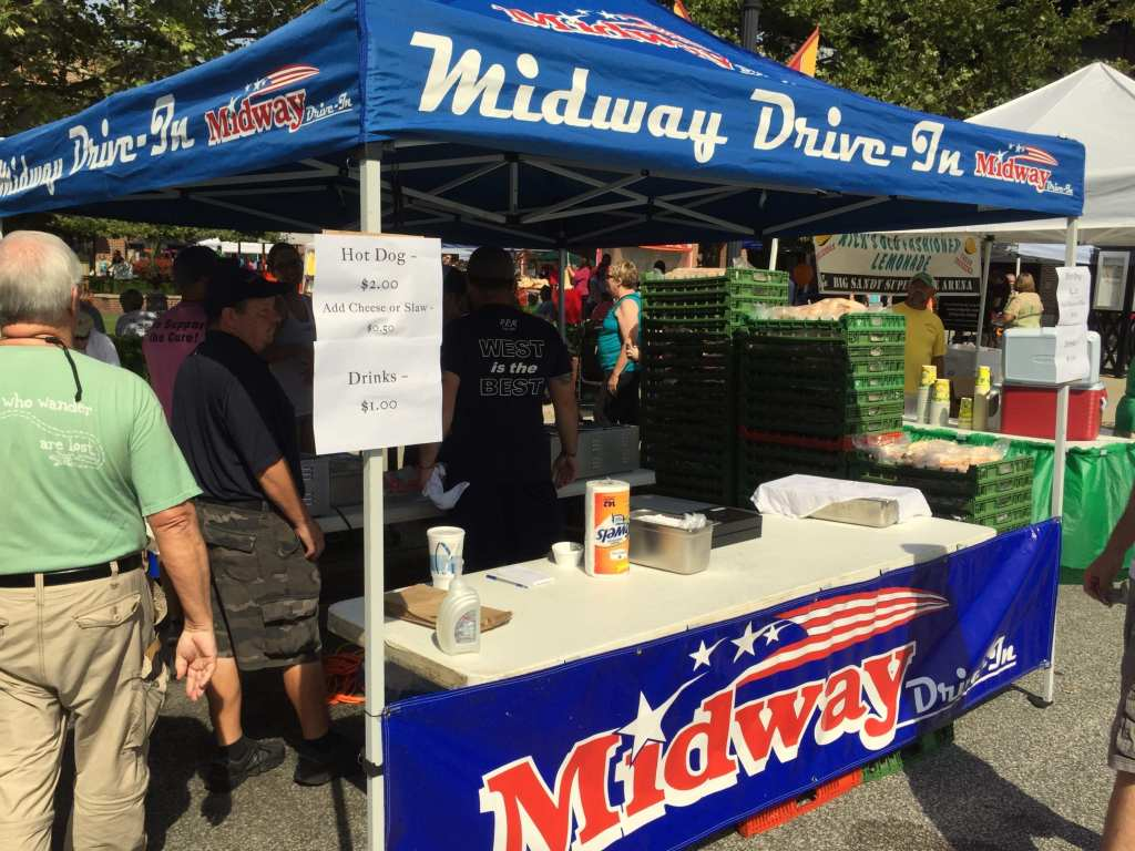 Midway Drive-In stall at the WV Hot Dog Festival