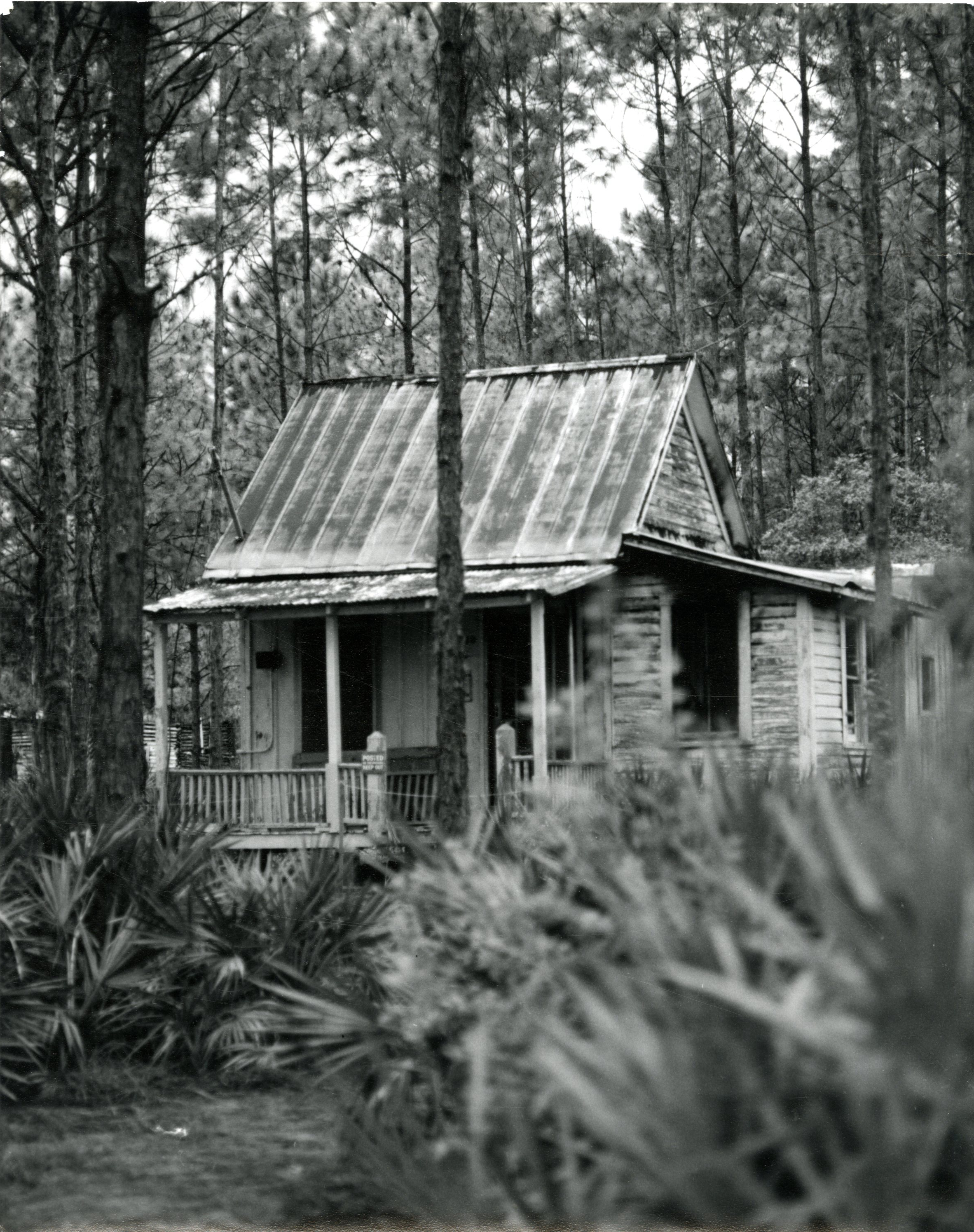 Boyer Cottage at Heritage Village, Largo, Florida, before restoration, circa 1978.