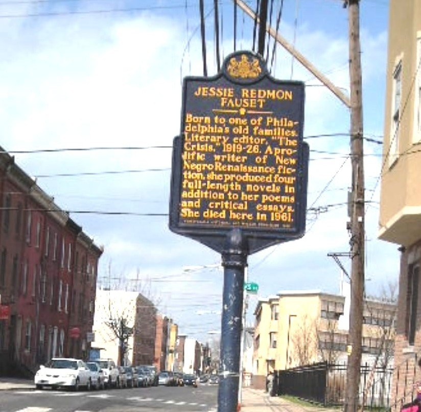 Historical Marker for Jessie Redmon Fauset