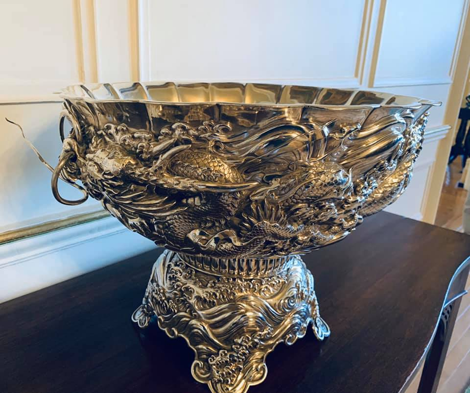 Japanese Sterling Silver Punch Bowl