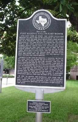 Site of the First Masonic Hall in Fort Worth