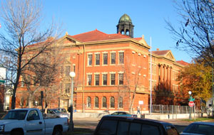 Evans School view form Acoma & 11th street