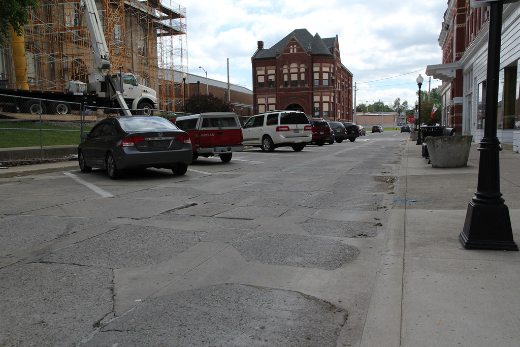 Though parts of the street have been patched, visitors can still see parts of the 1891 concrete.