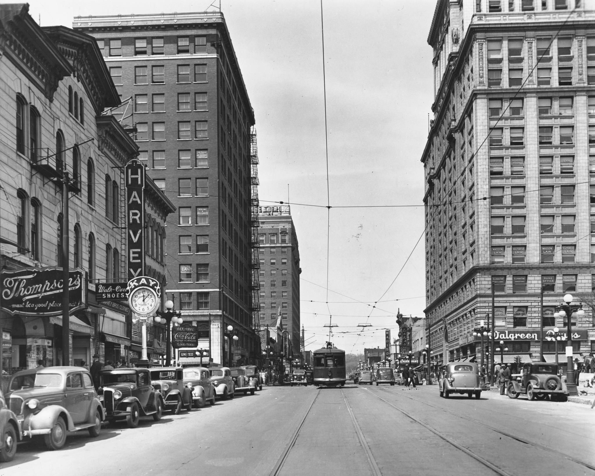 Downtown Peoria during the 1920s.