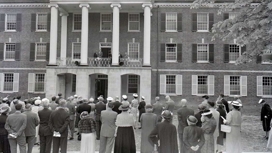 McCuskey Hall dedication.