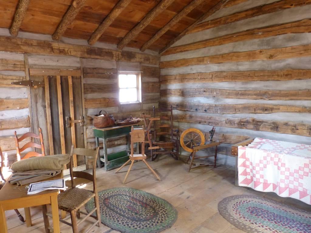 Inside Aunt Sophia's cabin