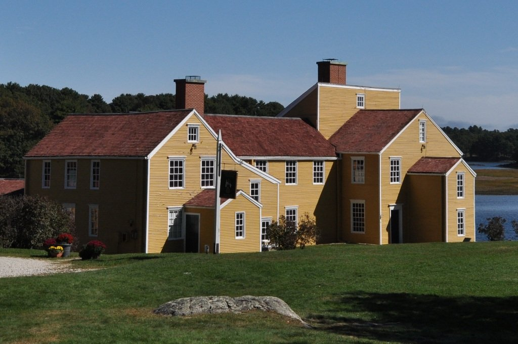 Original sections of the Wentworth-Coolidge Mansion date back to 1695.