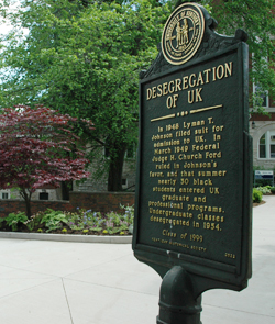 Marker in front of Johnson Hall