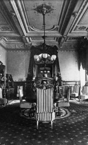 A historic photo of the Dining Room in the Lockwood era