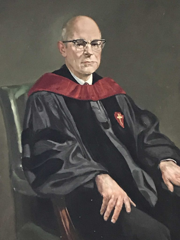 Bishop Fred G. Holloway (1898-1988) was the Bishop of the West Virginia Annual Conference from 1961-68. He had previously been president of Westminster Theological Seminary, Western Maryland College, and Drew University.