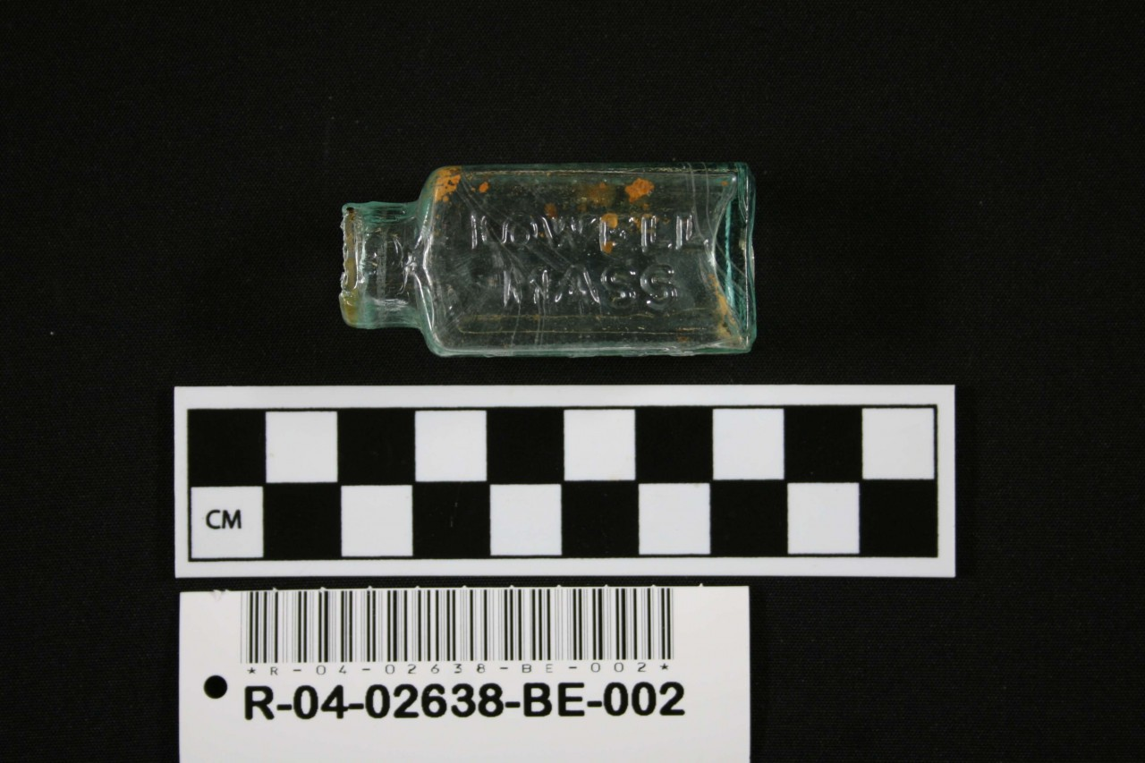 Ayer's pill bottle, recovered from the 1865 shipwreck of the USS Republic.