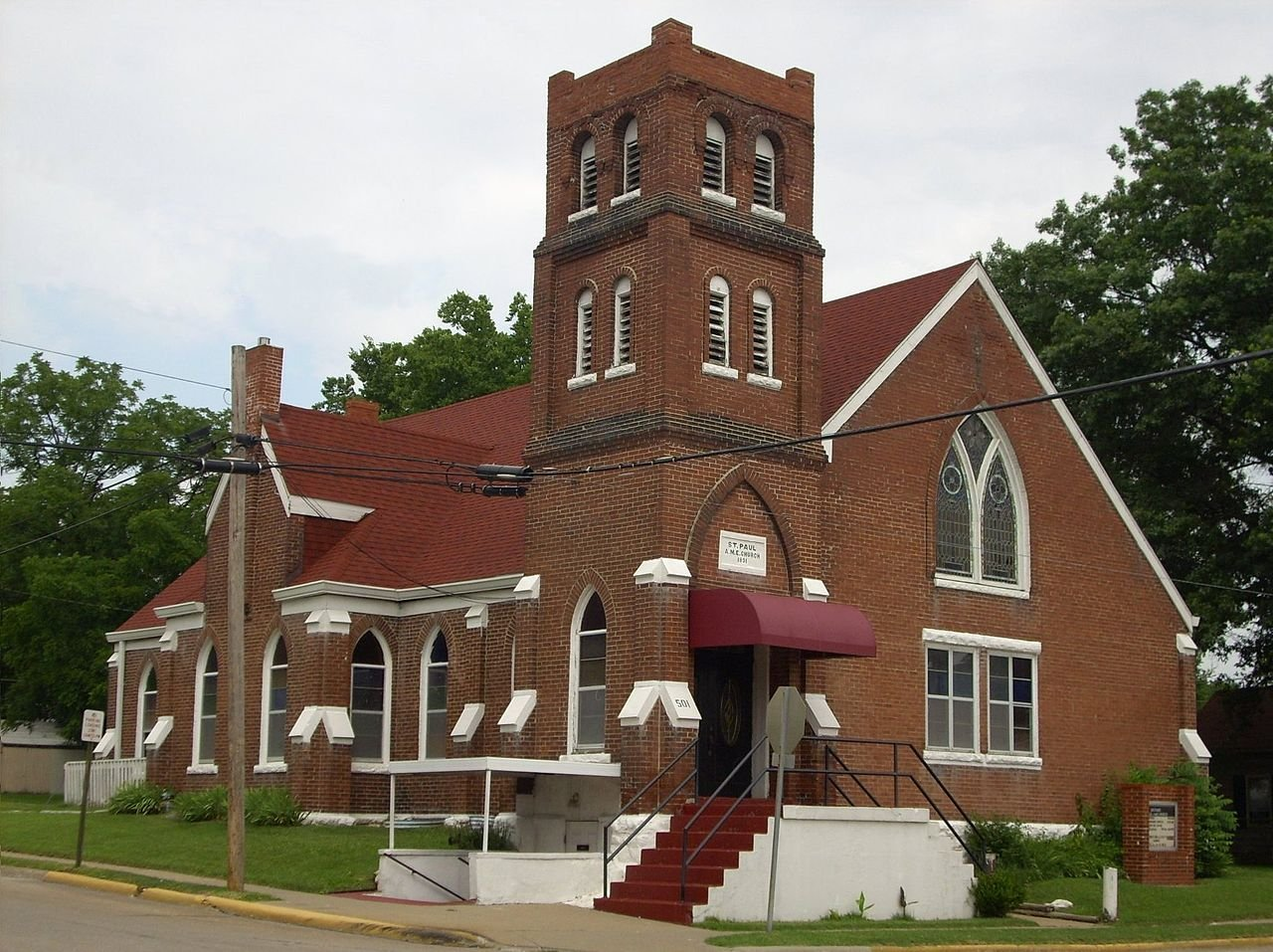St. Paul A.M.E. Church was built in 1892.