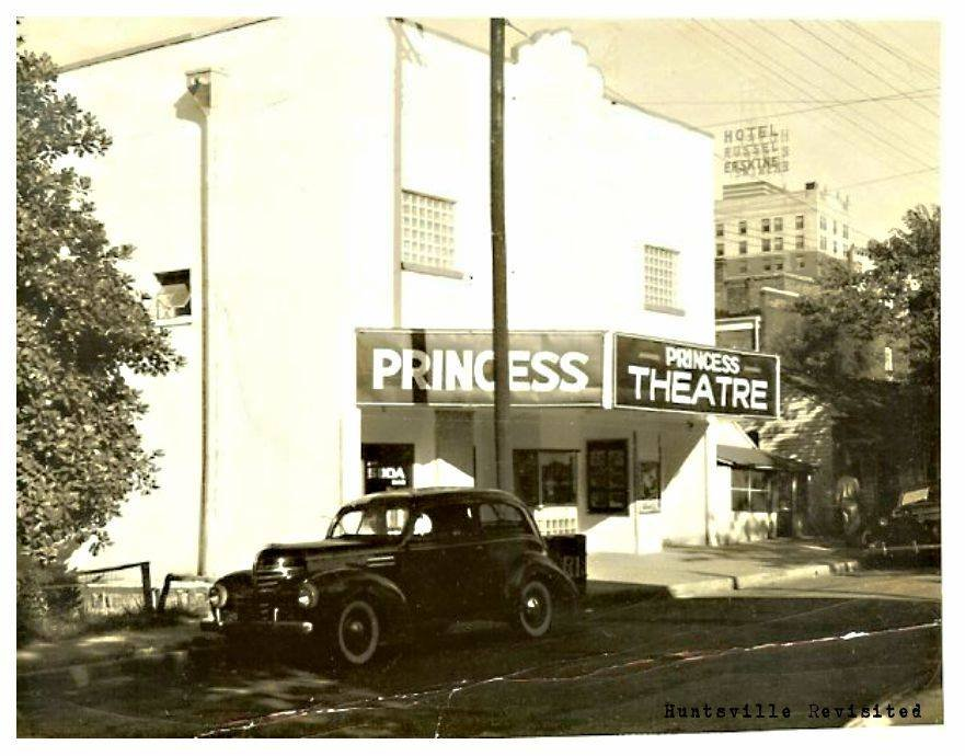 The Princess Theatre, located on Church Street in the black business district.