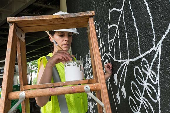 Margaret painting  freshwatercleveland.com