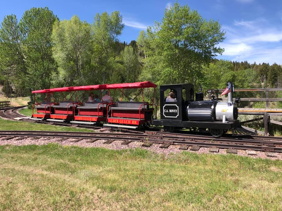 Passengers can ride this train between Nevada City and Virginia City.