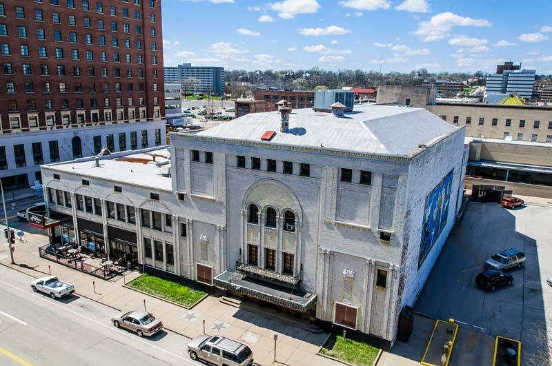 Historic Madison Theater (1920) in Peoria, IL.