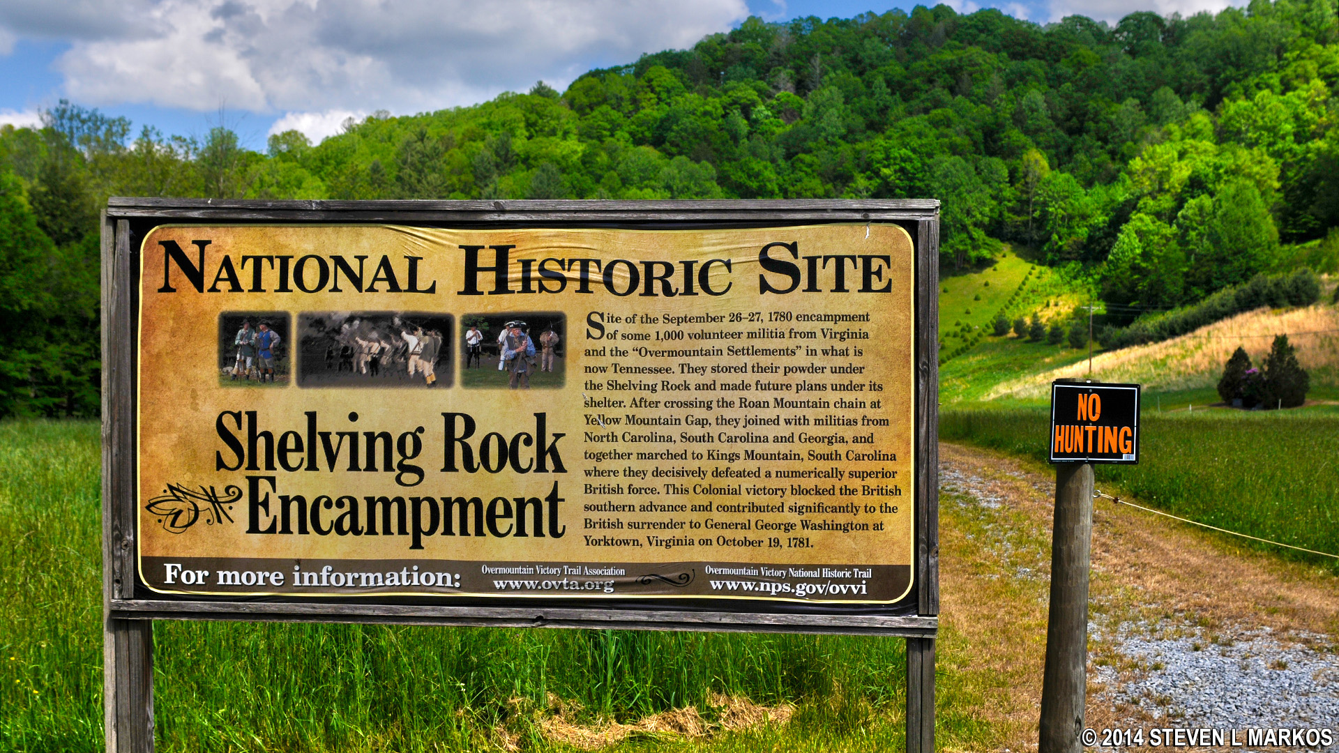 Sign at Overmountain Victory National Historic Trail, Tennessee.