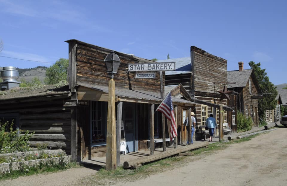 The museum features recreated and original buildings.