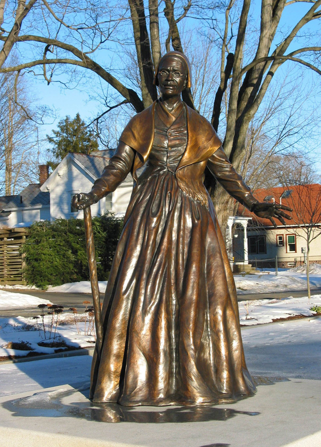Sojourner Truth statue, used with permission from the Sojourner Truth Memorial Committee