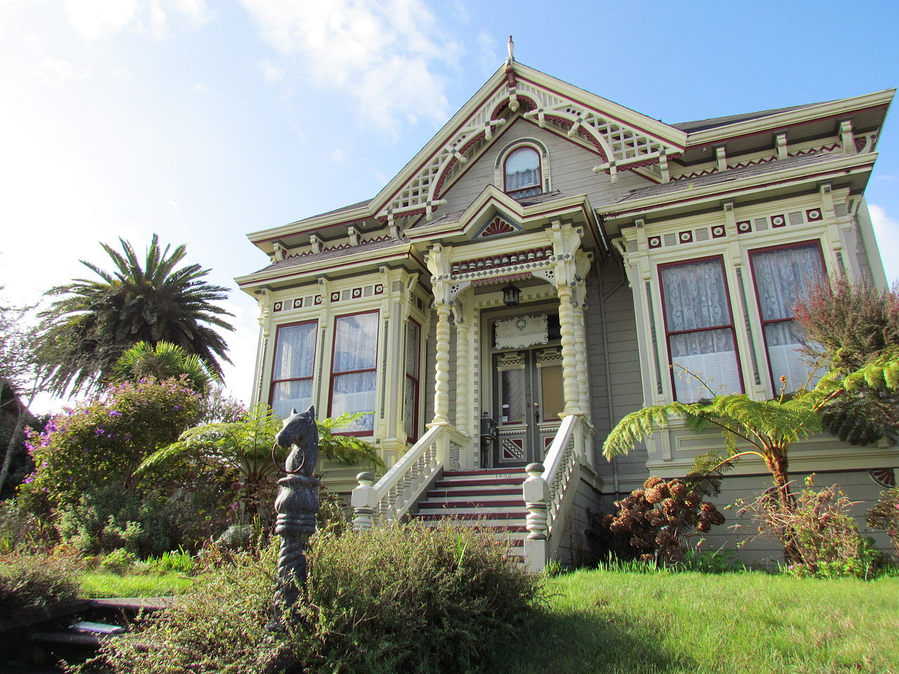 The former William S. Clark House is one of most striking buildings in Eureka. It is now a bed and breakfast inn.