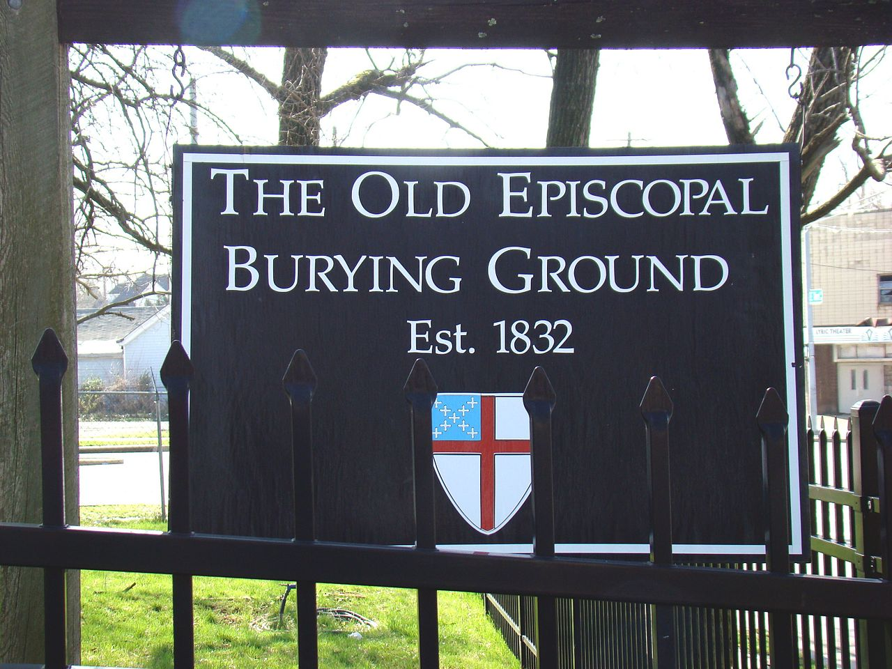 Entrance Sign of The Old Episcopal Burying Ground