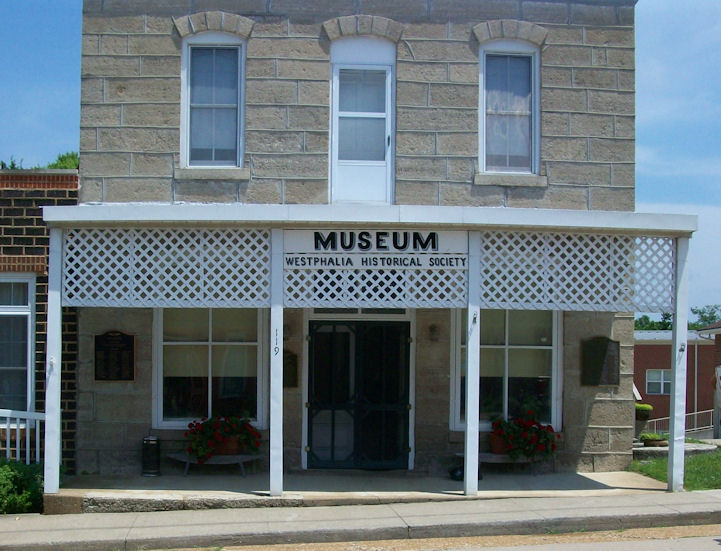The Westphalia Historical Society is located in this former general store building that was built in 1887.