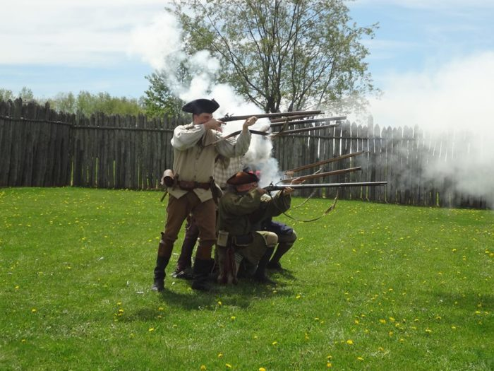 Reenactments at the fort, Proctor was in charge of the militia stationed at Hanna's Town.