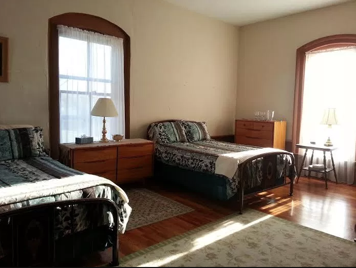 Visitors can stay in four rooms including this one.