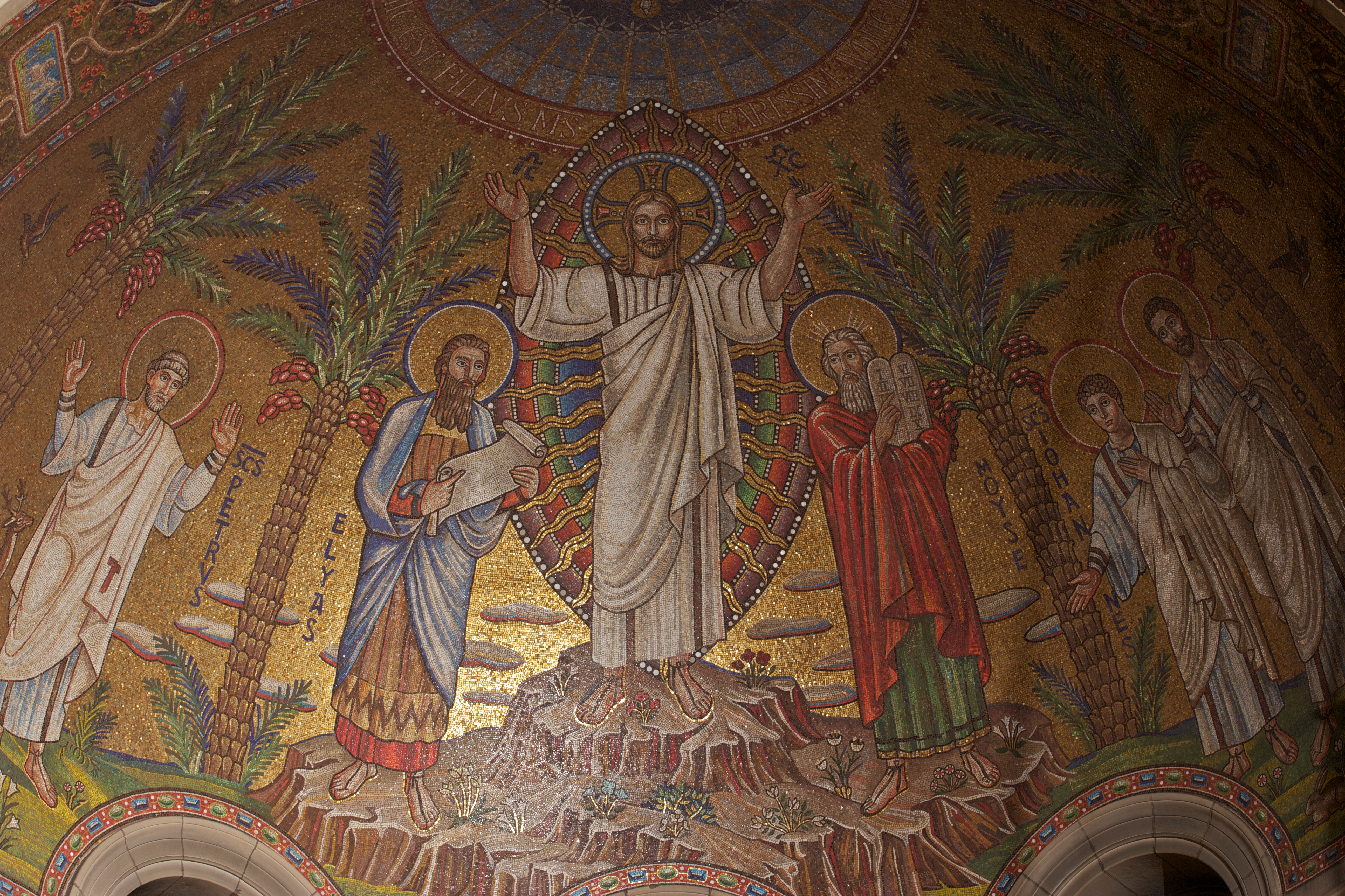 St. Bart's famous mosaic just above its apse.