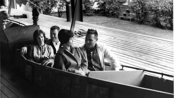 Photo of the Old Mill ride during the early 1900s.