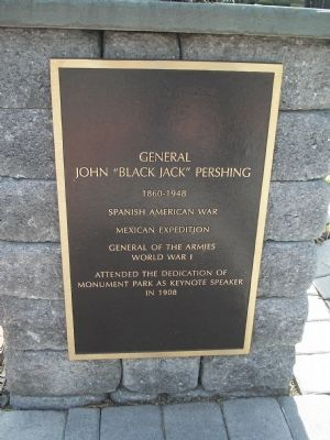 "Photograph of the John ""Black Jack"" Pershing Historical Marker."